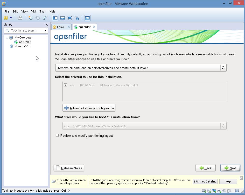 openfiler xenserver virtual appliance